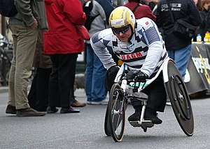 Paris Marathon - Wheelchair races are also held at the competition