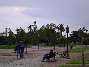 Italpark - View of Parque Thays, where the Italpark used to be