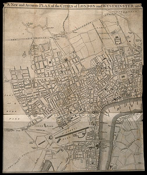 File:Part of a map of the City of Westminster and the immediate e Wellcome V0012879.jpg