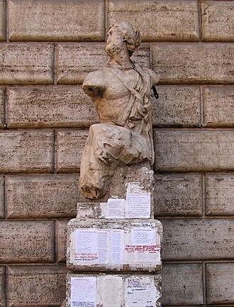 Pasquino - Image: Pasquino rome