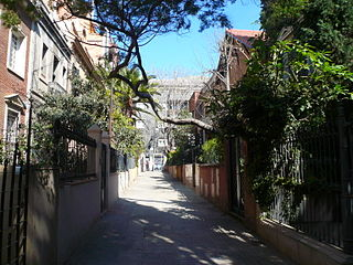 neighbourhood in the Sarrià-Sant Gervasi ditrict of Barcelona, Catalonia, Spain