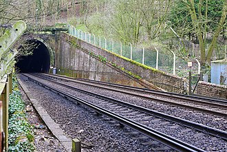 Patcham Tunnel - The northern entrance to Patcham Tunnel