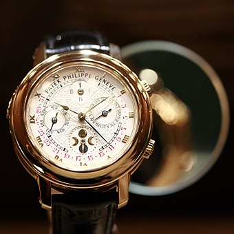 Perpetual calendar and moonphase wristwatch by Patek Philippe Patek-Philippe MG 2583.jpg