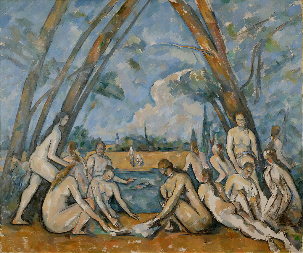 """The Large Bathers"" by Paul Cezanne"