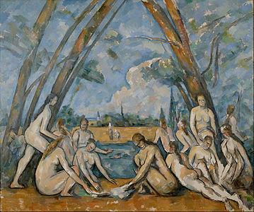 Les Grandes Baigneuses (The Large Bathers), by Paul Cézanne