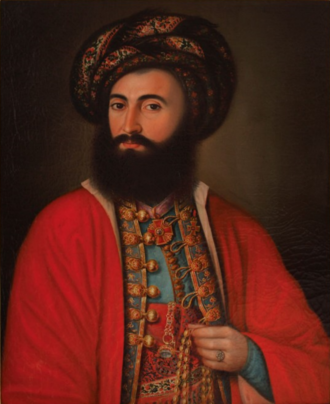 Constantin Cantacuzino (died 1877) - Cantacuzino ca. 1820; portrait attributed to Pavel Đurković