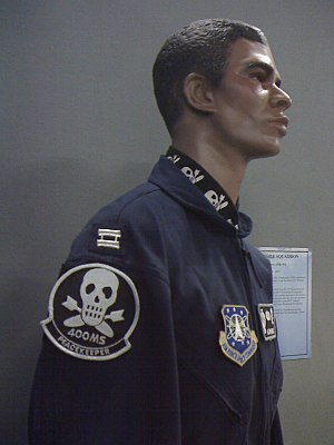 "400th Missile Squadron - Uniform showing an alternative ""skull and missiles"" shoulder patch."