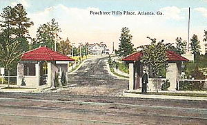Peachtree Hills - Peachtree Hills Place postcard early 20th century