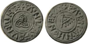 Amlaíb Cuarán - Image: Penny (Triqueta and Raven Banner) of Amlaib Cuaran