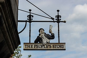 The People's Story Museum - Sign outside the People's Story Museum