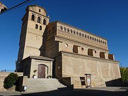 Perdiguera - Iglesia de Nuestra Señora de la Asunción - Vista general.jpg