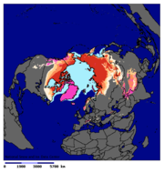 The permafrost region store more top soil which have not decomposted than previously estimated.  Image: NSIDC.