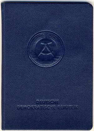 German identity card - East German identity card issued between 1 November 1951 and 2 October 1990, valid until 31 December 1995