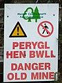 Perygl hen bwll - geograph.org.uk - 597984.jpg