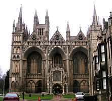 Peterborough Cathedral, Westfassade