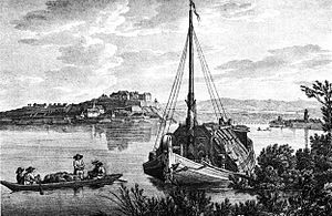 Petrovaradin Fortress - A gravure from 1821