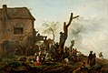 Philips Wouwerman - Landscape with a Large Number of Peasants Merrymaking in front of a Cottage GMIII MCAG 1979 516.jpg