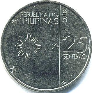 Philippine twenty-five-centavo coin