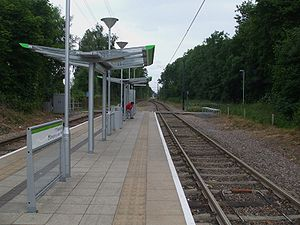 Phipps Bridge tram stop - Image: Phipps Bridge tramstop look east
