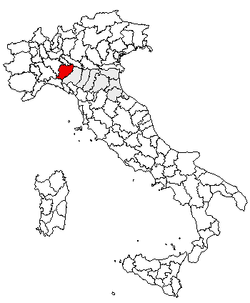 Location of Province of Piacenza