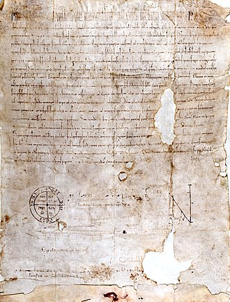"Pope Paschal II - ""Pie Postulatio Voluntatis"". Bull issued by Pope Paschal II in 1113 in favour of the Order of St. John of Jerusalem, which was to transform what was a community of pious men into an institution within the Church. By virtue of this document, the pope officially recognized the existence of the new organisation as an operative and militant part of the Catholic Church, granting it papal protection and confirming its properties in Europe and Asia."