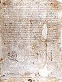 Piae Postulatio Voluntatis bull of Pope Paschal II, 1113.jpg