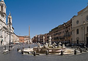 English: Piazza Navona, Rome Français : La pla...