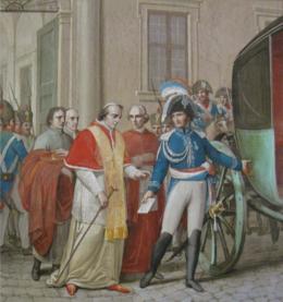 Resultado de imagen para Pío VII y san jose