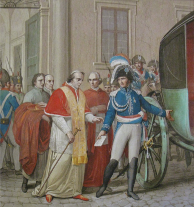 The arrest of Pius VII Pie VII Arrestation par le General Radet.png