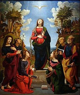 <i>Immaculate Conception with Saints</i> (Piero di Cosimo) painting by Piero di Cosimo