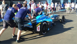 Pierre Gasly - Gasly's Renault e.Dams car in the NYC ePrix paddock prior to qualifying
