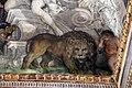 Pietro da cortona, Trionfo della Divina Provvidenza, 1632-39, Storia di Muzio scevola e il leone 04.JPG