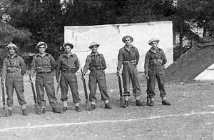 Etzioni Brigade - Etzioni soldiers in the Russian Compound in Jerusalem, 1948