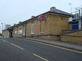 Pinner tube station - The entrance to Pinner tube station on Station Approach.