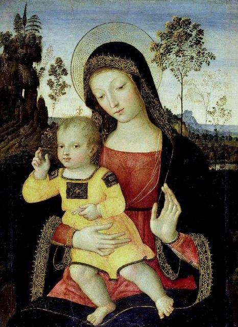 Pinturicchio Virgen con ni%C3%B1o Ashmolean Museum