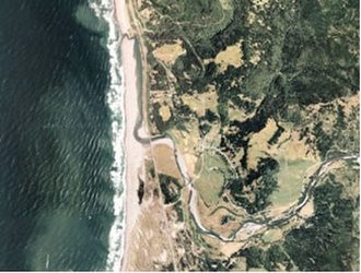 Pistol River - Pistol river mouth seen from space