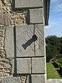Pitmedden Gardens 23 sundial on corner of wall.jpg