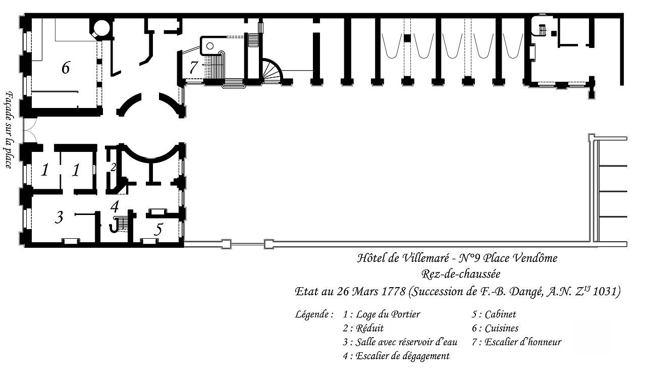 Fileplan du rez de chaussée de lhôtel de villemaré jpg