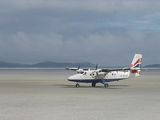 Highlands and Islands Airports - Aircraft land on sand at Barra Airport