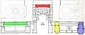 Plans du rez-de-chaussée et du premier étage du palais de Versailles, Éditeur Gavard, premier étage - Gallica 2011 (detail, color-coded).jpg