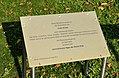 Plaque Earth Day 2013, Kurpark Oberlaa 01.jpg