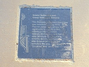 "Baldivis, Western Australia - Plaque giving the origin of the name ""Baldivis"" on the Rockingham Waterfront Pioneer Rotary Walk in Rockingham, Western Australia."