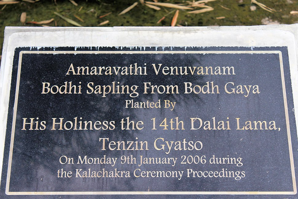 Plaque at AP Museum, Amaravathi