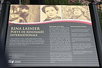 Plaque commemorative Rina Lasnier poete de renommee internationale.jpg