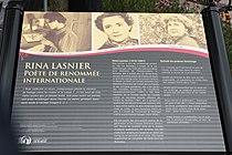 Plaque commemorative Rina Lasnier poete de renommee internationale.jpg