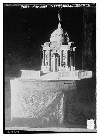 Pennsylvania State Memorial, Gettysburg - Image: Plaster scale model ca.1910