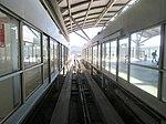 Platform doors at Garage G BART station, August 2018.JPG
