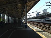 Platform of Fukuyama Station (Sanyo Shinkansen, east).JPG