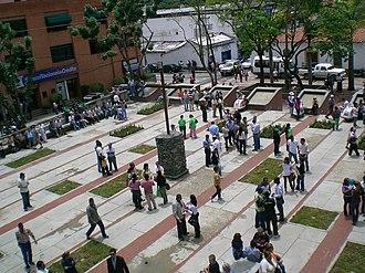 Baruta Municipality - Plaza El Cristo at Nuestra Señora del Rosario de Baruta church.