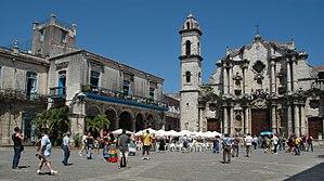 Havana Cathedral - Plaza de la Catedral of Havana (Jan 2014)